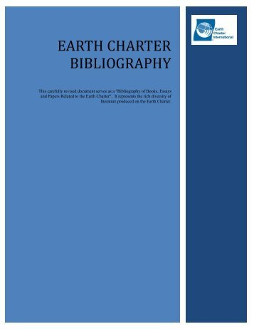 Earth Charter Bibliography - Earth Charter Initiative