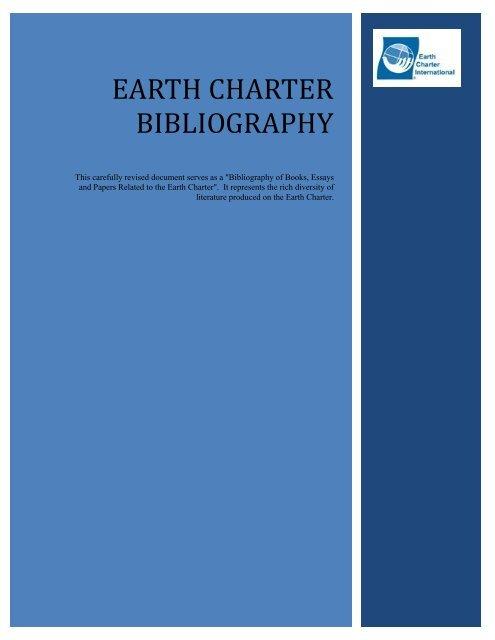 Earth Charter Bibliography - Earth Charter Initiative