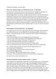 TRIANGELIS-Newsletter, der letzte 2009 - Triangelis.de