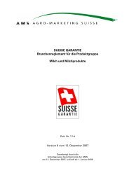 Branchenreglement Milch und Milchprodukte - Swissmilk