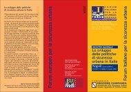 Forum italiano per la sicurezza urbana Forum europeo per la ...