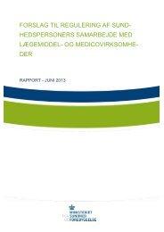 Læs arbejdsgruppens rapport (PDF) - Ugeskrift for Læger