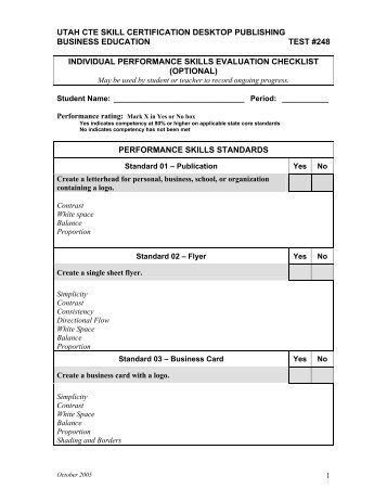 utah cte skill certification desktop publishing business education test ...