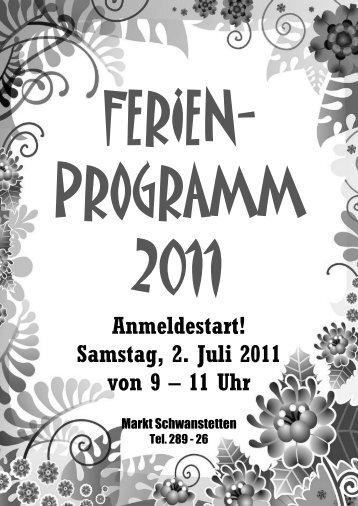 Samstag, 2. Juli 2011 von 9 – 11 Uhr - Gemeinde Schwanstetten