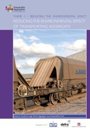 reducing the environmental effect of transporting aggregate