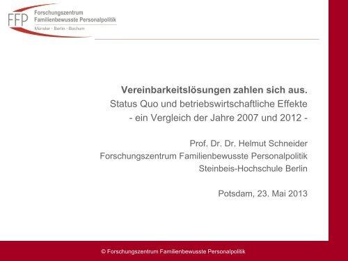 Vereinbarkeitslösungen zahlen sich aus. - LASA Brandenburg GmbH