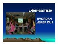 Presentasjon av læringsstiler - Linksidene