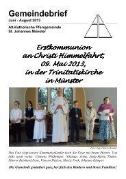 Gemeindebrief Juni bis August 2013 - Alt-Katholiken