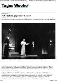 Mit Fackeln gegen die Ketzer - Josef Lang