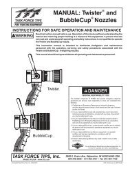 MANUAL: Twister and BubbleCup Nozzles - Task Force Tips