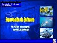Exportación de Software- Presentación - CICOMRA