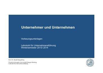 Unternehmen - Lehrstuhl für Unternehmensführung - Friedrich ...