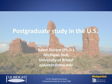 Postgraduate study in the U.S.