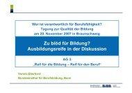 Zu blöd für Bildung? Ausbildungsreife in der Diskussion - BiBB