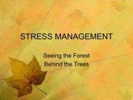 Stress Management (slides) - Peru State College