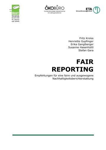 Fair Reporting Leitfaden (pdf-Datei, 3 MB) - ÖGUT