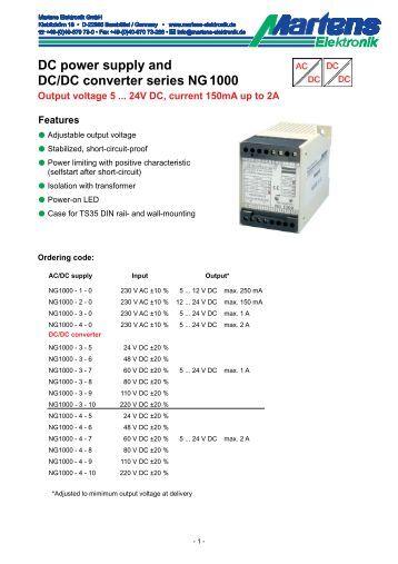 NG1000-00- Prospekt - Martens Elektronik GmbH