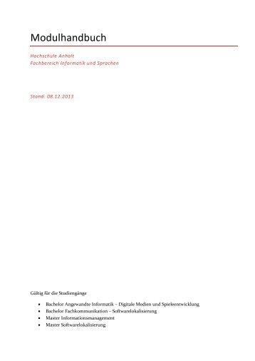 Modulhandbuch Fachbereich Informatik und Sprachen