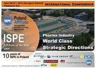 ISPE Poland International Conference - Pharma Quality Europe, Srl