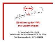 Einführung des WAI ins Unternehmen