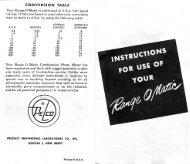 Pelco (aka Utilitron) Range-o-Matic manual