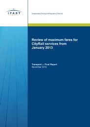 Review of maximum fares for CityRail services from January 2013