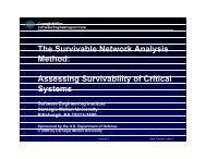 The Survivable Network Analysis Method: Assessing ... - Cert