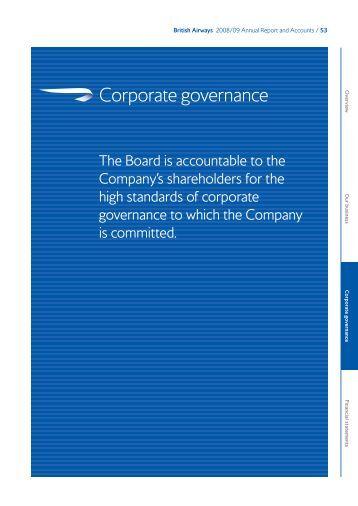 Corporate Governance (144kb pdf) - British Airways