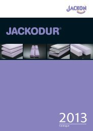 JACKODUR Catalogue 2013 - Jackon Insulation