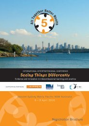 Seeing Things Differently - Conference On The Net