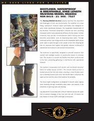 bootliner, waterproof & breathable, knee length ... - Mustang Survival
