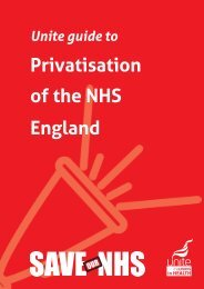 guide to NHS privatisation - Unite the Union