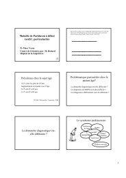 Maladie de Parkinson à début tardif : particularités Prévalence chez ...
