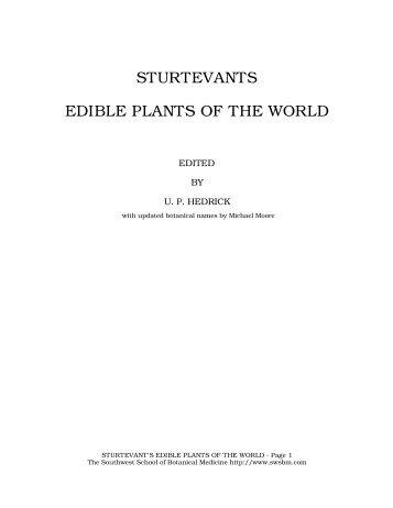 STURTEVANTS EDIBLE PLANTS OF THE WORLD - Southwest ...