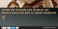 verein der freunde und förderer der musica sacra am dom st. jakob ...