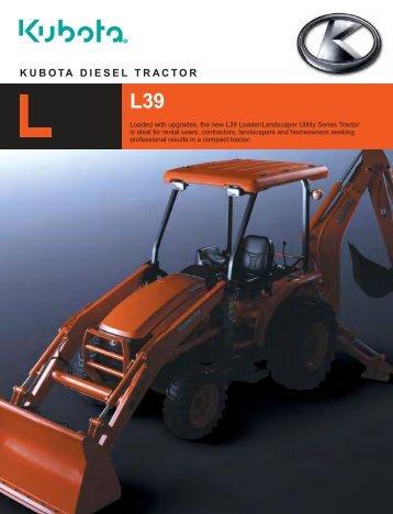 KUBOTA DIESEL TRACTOR L39 - Agriquip