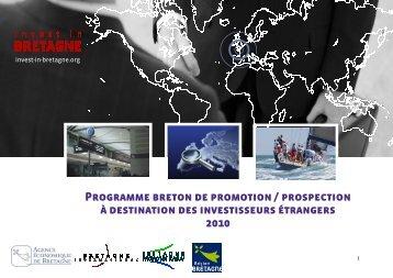 Programme breton de promotion / prospection à ... - Invest in Bretagne