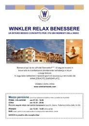 WINKLER RELAX BENESSERE - Winklerhotels