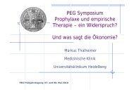 PEG Symposium Prophylaxe und empirische Therapie – ein ...