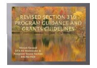 Revised Section 319 Program Guidance and Grants Guidelines