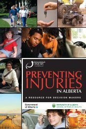 Preventing Injuries in Alberta: A Resource for Decision Makers