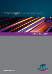 solvent flow meters - Macnaught