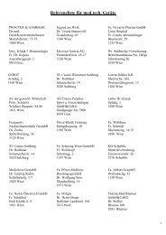 Referenzliste für med.tech. Geräte - Arztplan