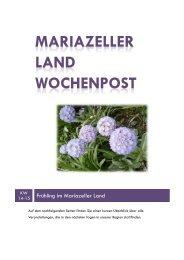 Mariazeller Land Wochenpost KW 14-15 - Mariazellerland Blog