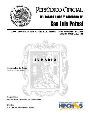 San Luis Potosí - Registro Civil - Gobierno del Estado