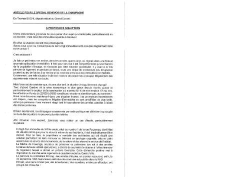 26/03/1997 Le genevois de la champagne - Charpente Concept