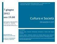 Cultura e società- 7 giugno - Philosophical News