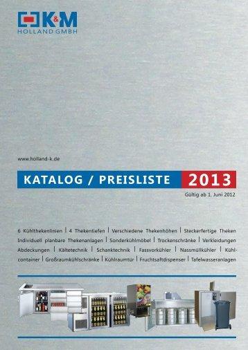 Katalog 2013 - K&M Holland