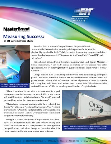 MasterBrand - Measuring Success