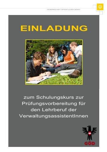 Prüfungsvorbereitung für den Lehrberuf der ... - goedfsg-jugend.at
